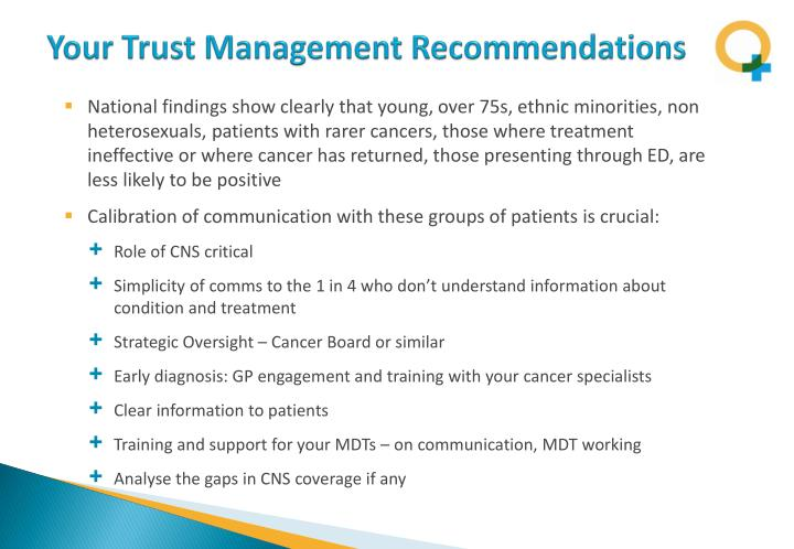 Your Trust Management Recommendations
