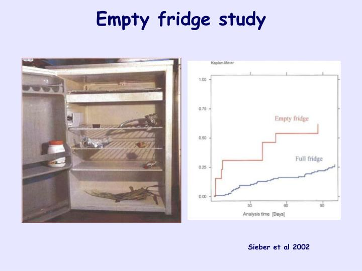 Empty fridge study