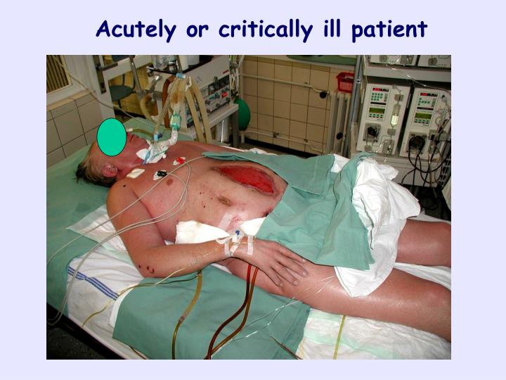 Acutely or critically ill patient