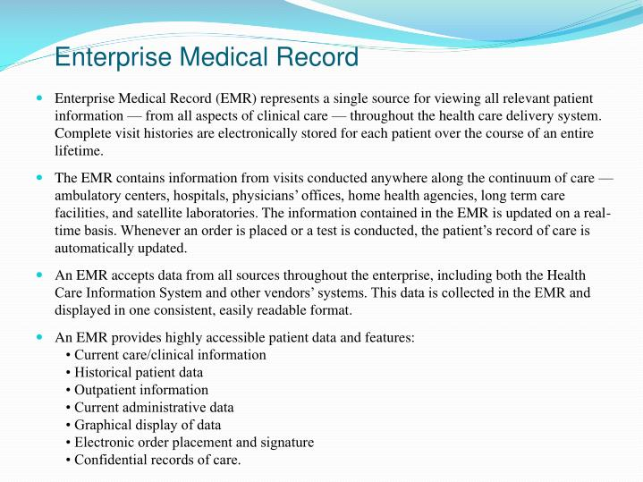 Enterprise Medical Record