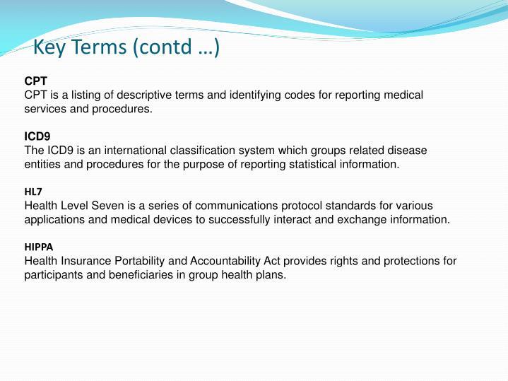Key Terms (