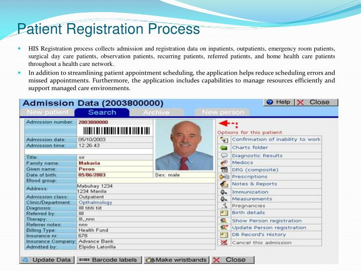 Patient Registration Process