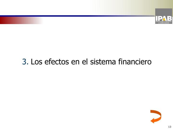 Los efectos en el sistema financiero
