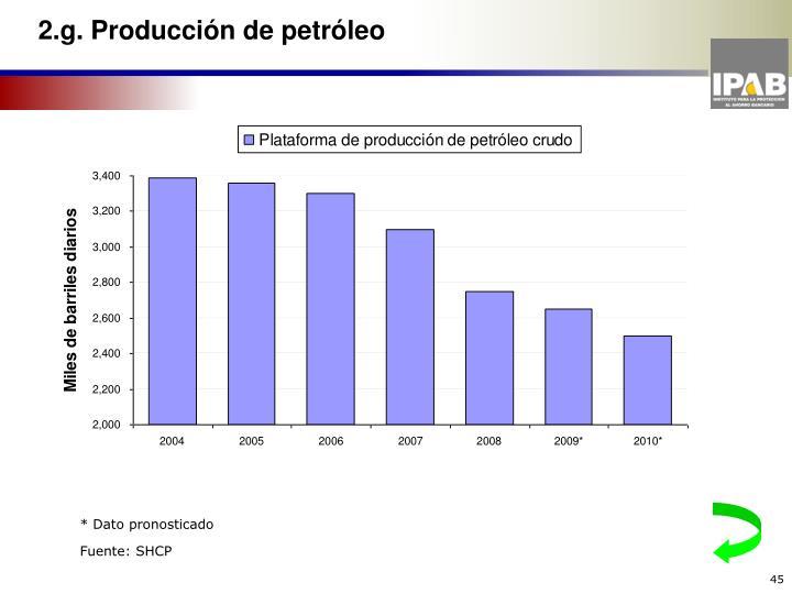 2.g. Producción de petróleo