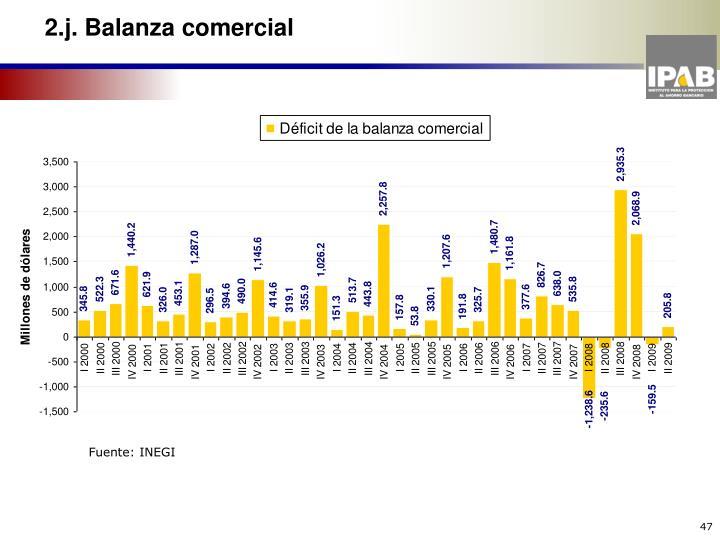 2.j. Balanza comercial