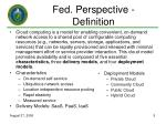 fed perspective definition