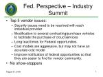 fed perspective industry summit