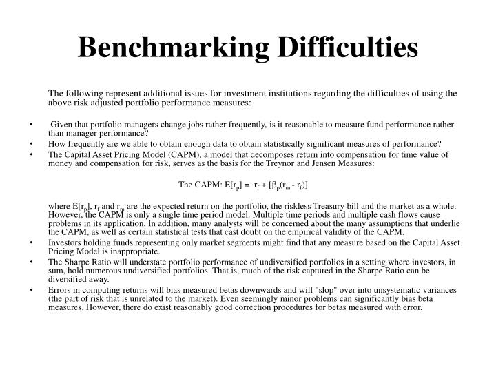 Benchmarking Difficulties