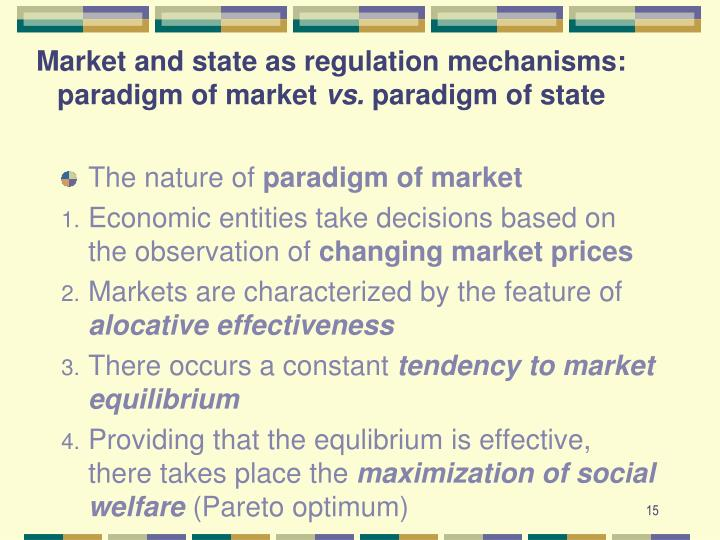 Market and state as regulation mechanisms: paradigm of market