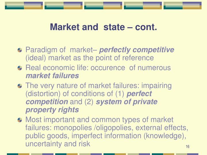 Market and  state – cont.