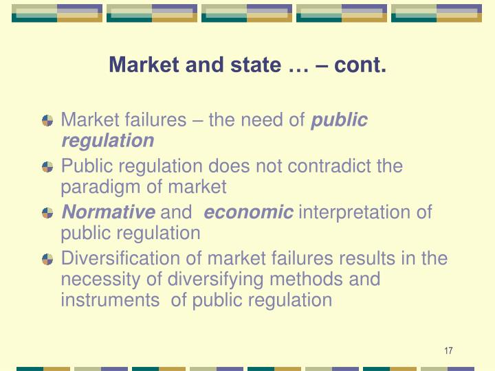 Market and state … – cont.
