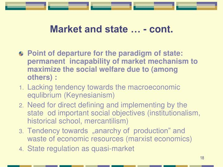 Market and state … - cont.