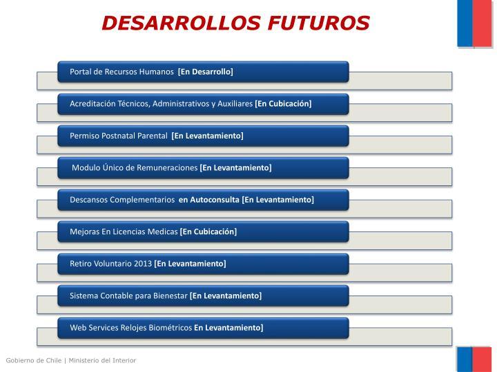 DESARROLLOS FUTUROS