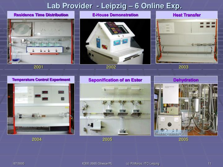 Lab Provider  - Leipzig – 6 Online Exp.