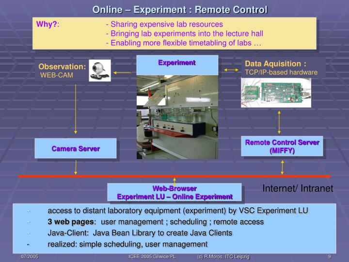 Online – Experiment : Remote Control
