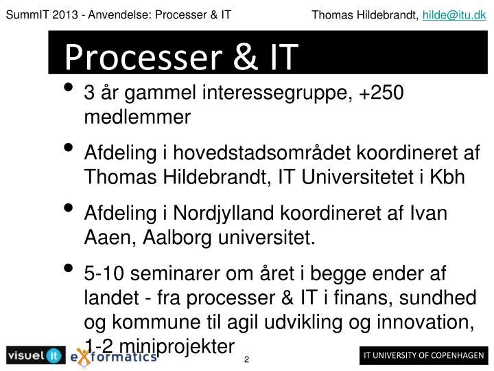 Processer & IT