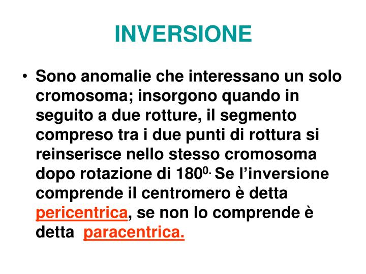 INVERSIONE