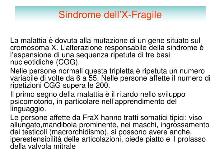 Sindrome dell'X-Fragile