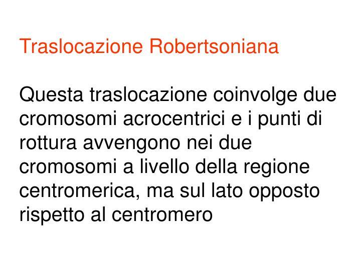 Traslocazione Robertsoniana
