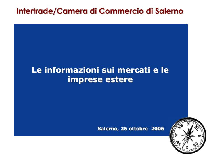 Intertrade/Camera di Commercio di Salerno