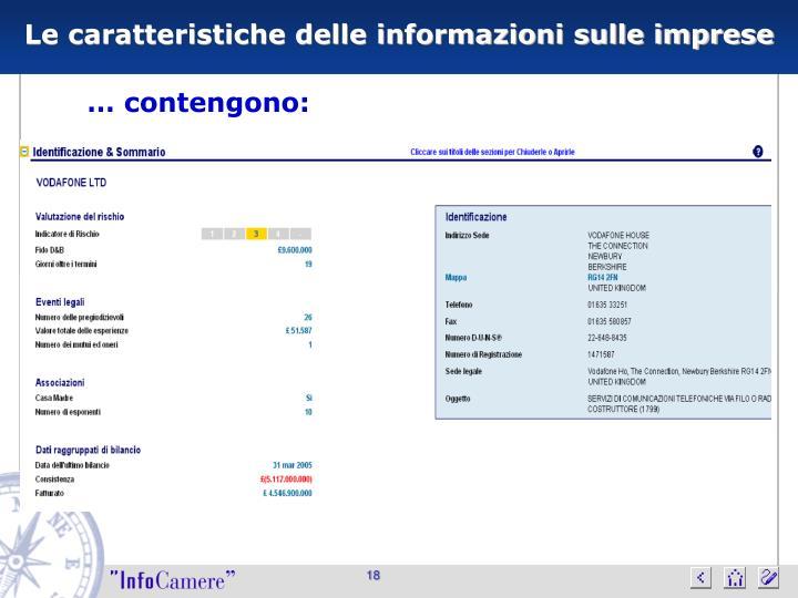 Le caratteristiche delle informazioni sulle imprese
