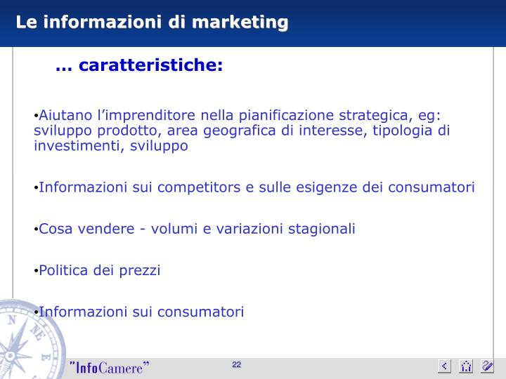Le informazioni di marketing