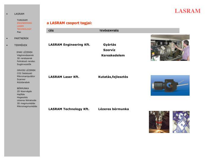 a LASRAM csoport tagjai: