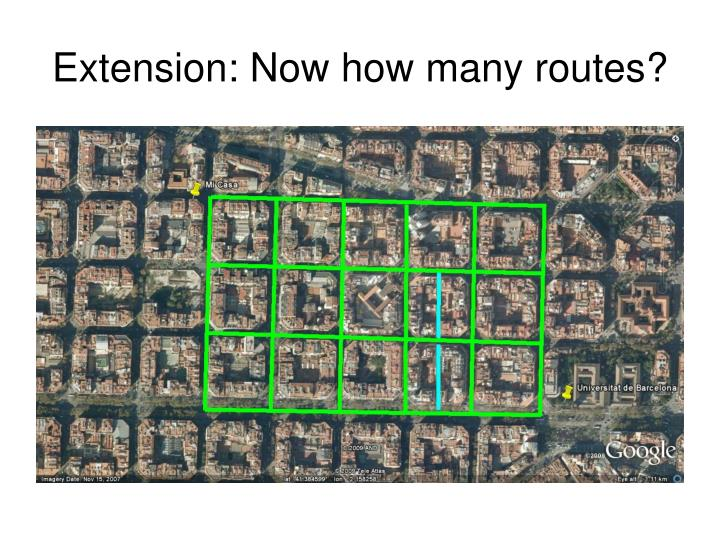 Extension: Now how many routes?