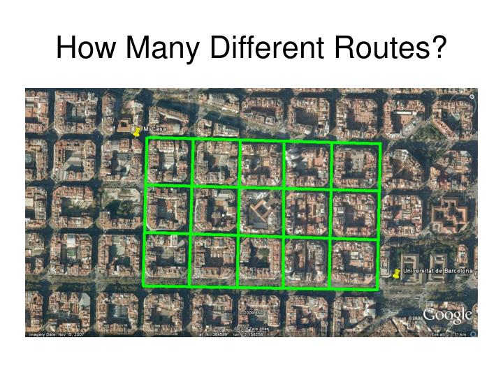 How Many Different Routes?
