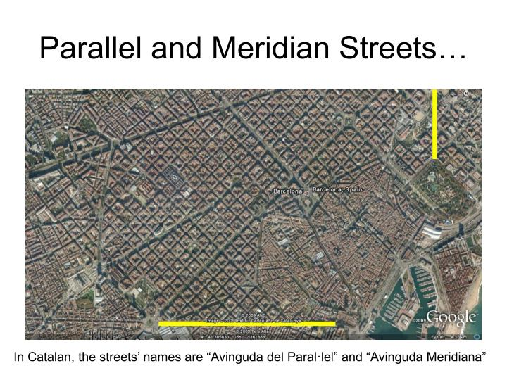 Parallel and Meridian Streets…