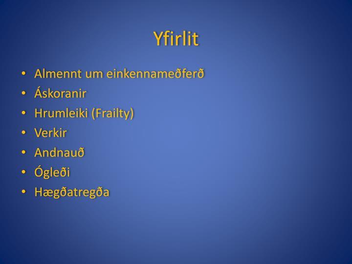 Yfirlit