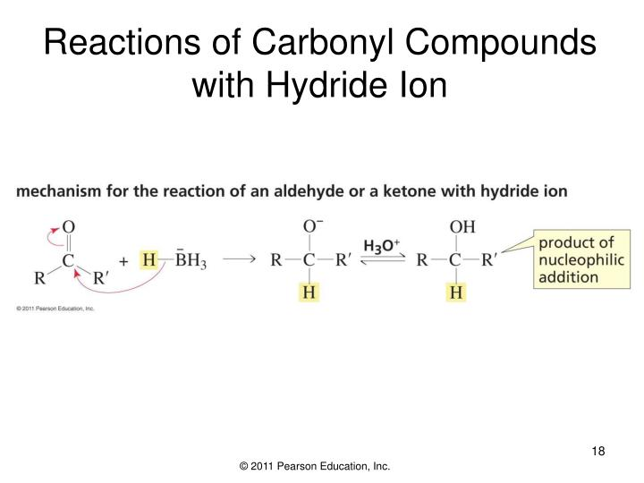 Reactions of Carbonyl Compounds with Hydride Ion