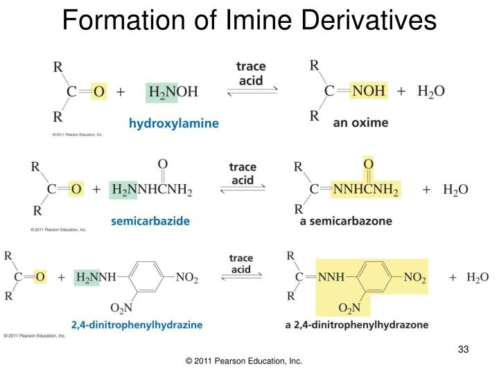 Formation of Imine Derivatives