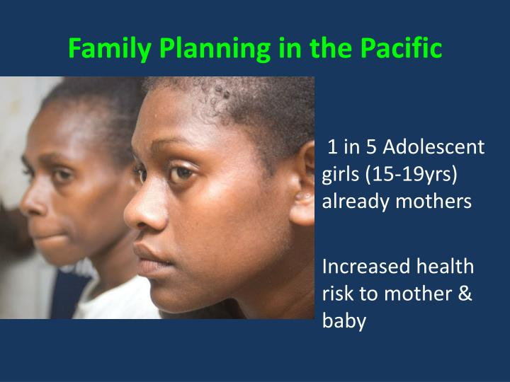 Family Planning in the Pacific