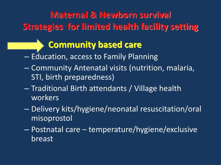 Maternal & Newborn survival