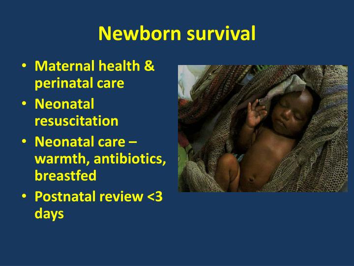 Newborn survival