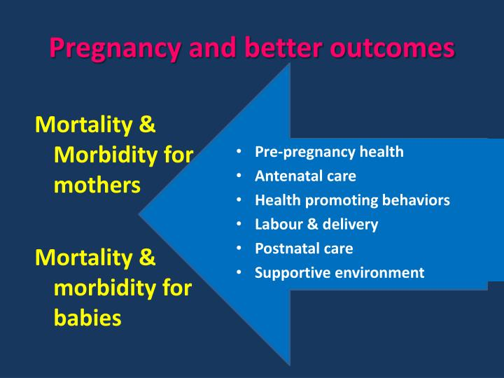 Pregnancy and better outcomes