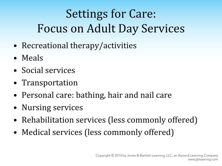 Settings for Care: