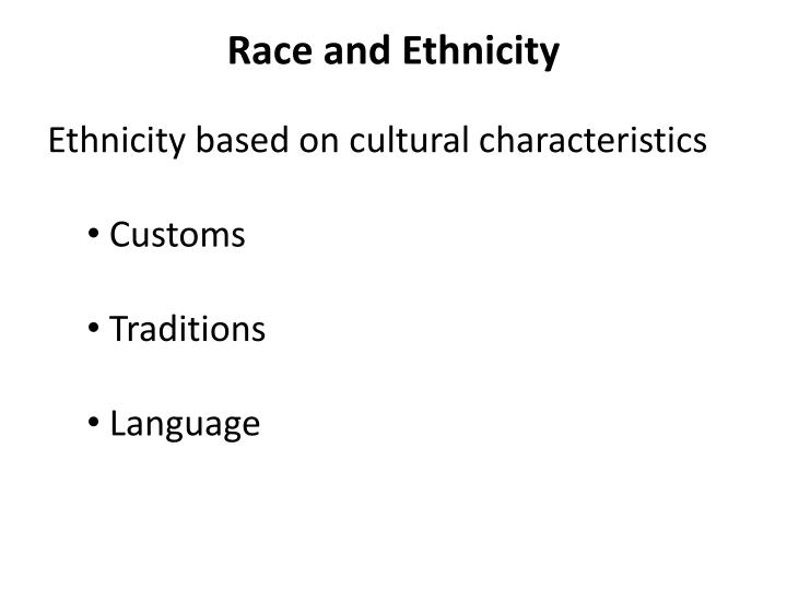 Race and Ethnicity