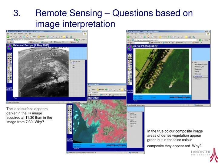 3.  Remote Sensing – Questions based on image interpretation