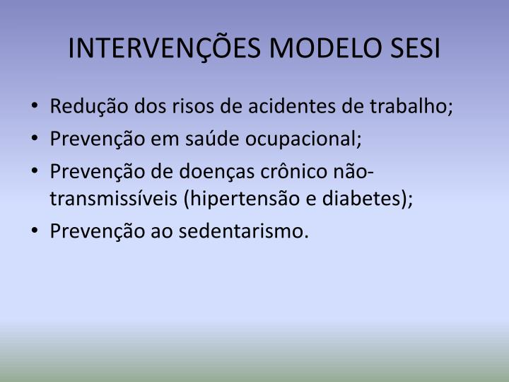 INTERVENÇÕES MODELO SESI