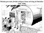 britain prevents jewish refugees from arriving in palestine july 1946