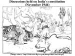 discussions held on india s constitution november 1946