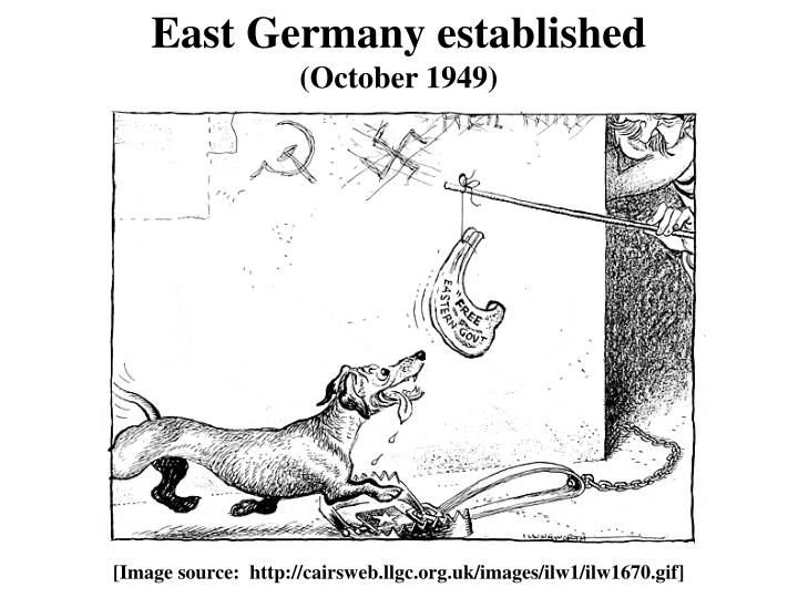 East Germany established