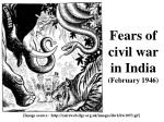 fears of civil war in india february 1946