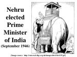 nehru elected prime minister of india september 1946
