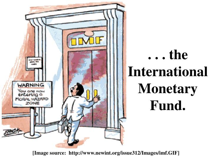 . . . the International Monetary Fund.
