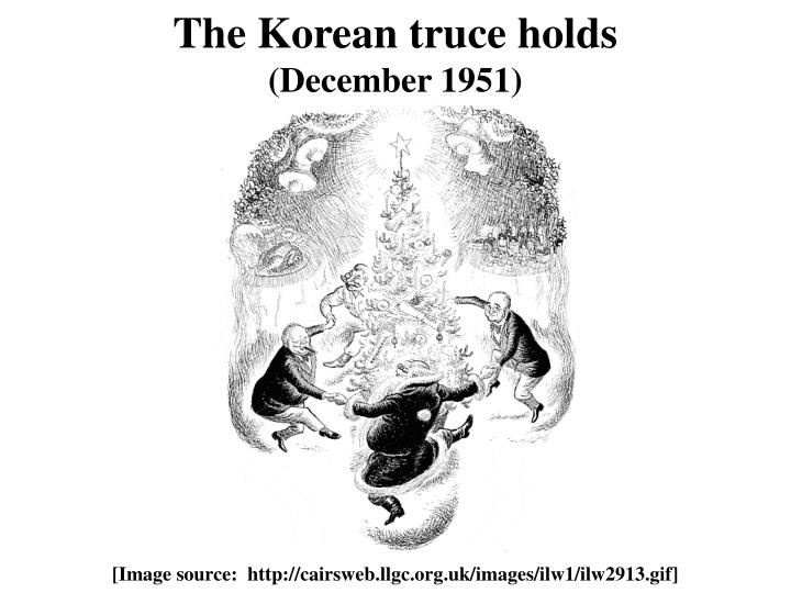 The Korean truce holds