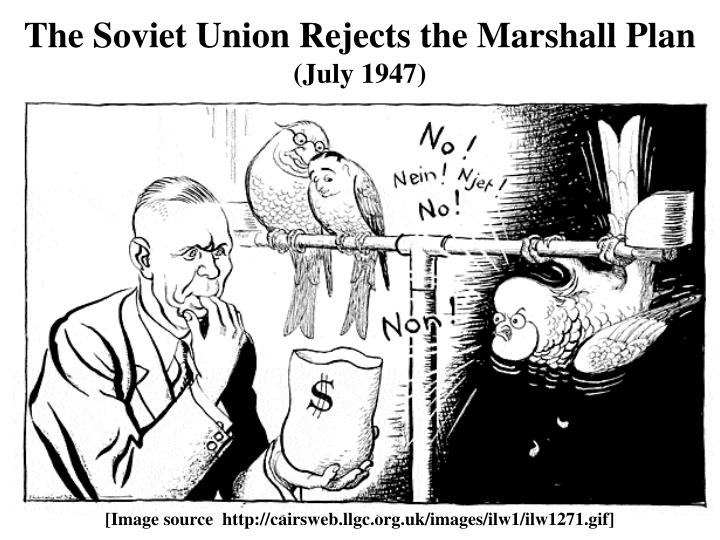 The Soviet Union Rejects the Marshall Plan