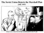 the soviet union rejects the marshall plan july 1947